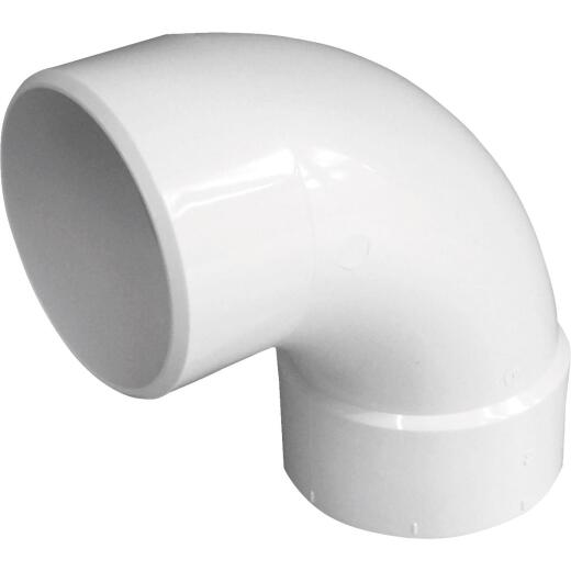 Genova SDR 35 90 Degree 4 In. PVC Sewer and Drain Elbow Street (1/4 Bend)