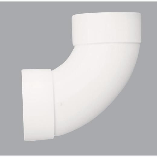 Genova SDR 35 90 Degree 3 In. PVC Sewer and Drain Sanitary Elbow (1/4 Bend)
