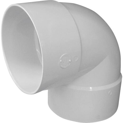 Genova SDR 35 90 Degree 6 In. PVC Sewer and Drain Short Turn Elbow (1/4 Bend)