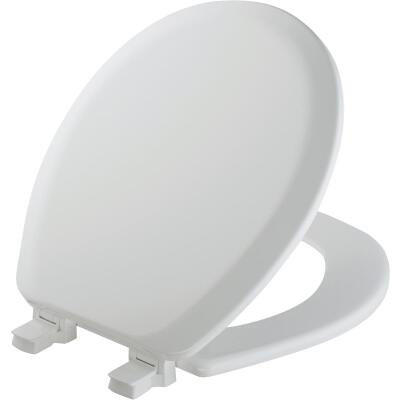 Mayfair Advantage Round Closed Front White Wood Toilet Seat