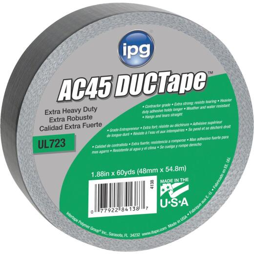 Intertape AC45 DUCTape 1.88 In. x 60 Yd. XHD Contractor Grade Duct Tape, Silver