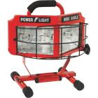 Designers Edge Power Light 8000 Lm. Halogen H-Stand Portable Work Light Image 1