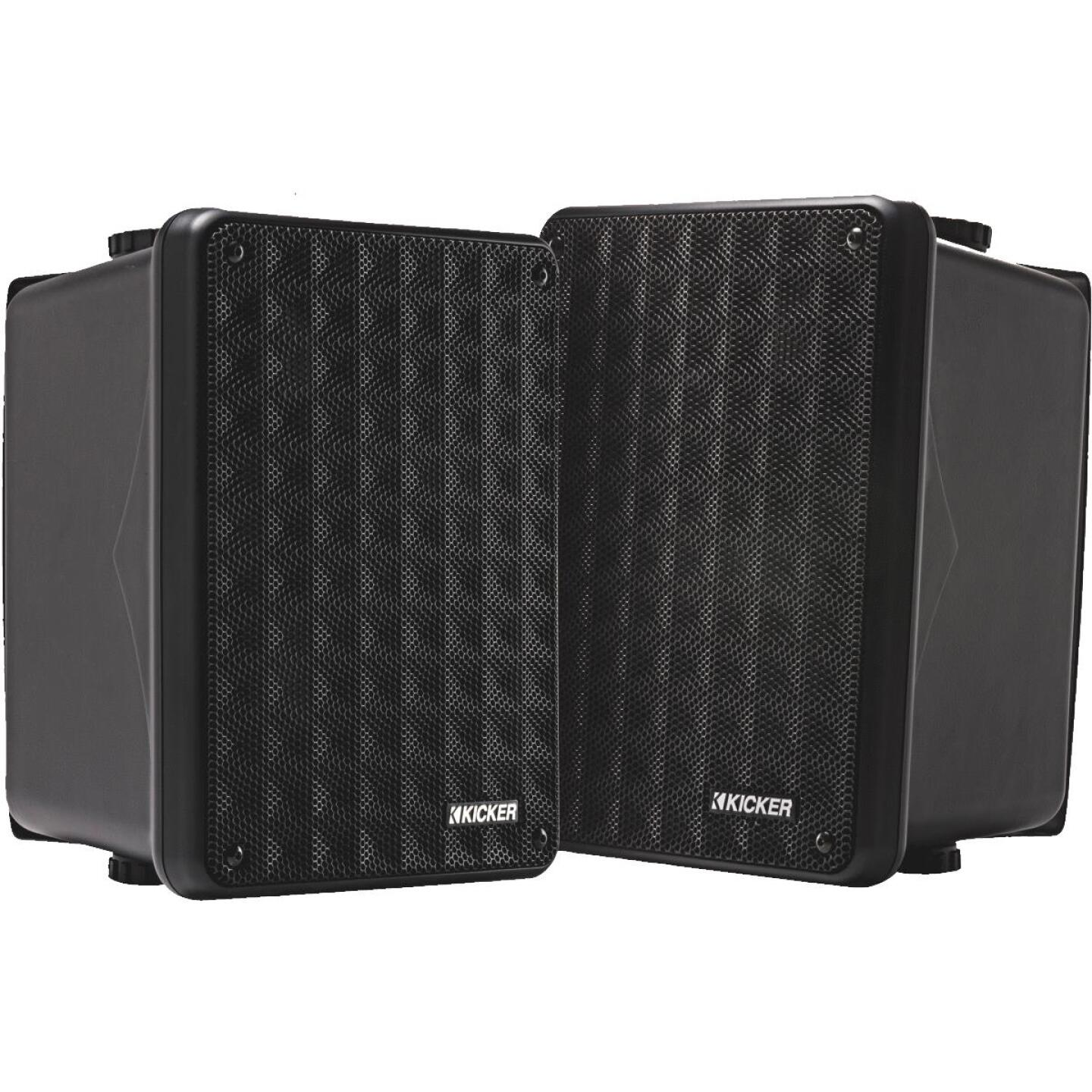 Kicker KB6000 2-Way Black Weatherproof Outdoor Full Range Speaker (2-Pack) Image 1