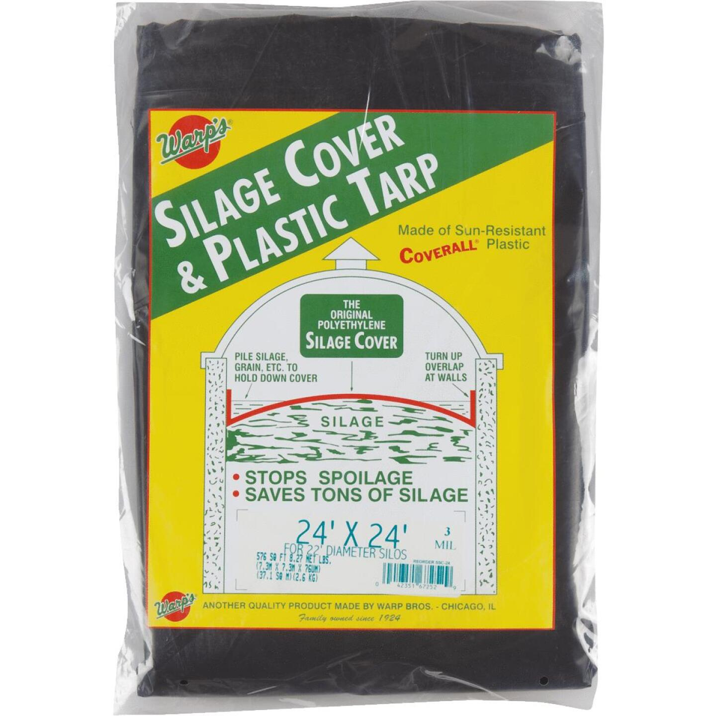 Warp's 24 Ft. X 24 Ft. Coverall Polyethylene 3 Mil. Silage Cover Image 1