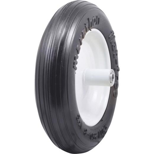 Marathon 13 x 350/250-8 In. Flat Free Wheelbarrow Wheel