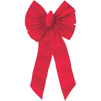 Holiday Trims 7-Loop 14 W. x 28 In. L. Red Velvet Christmas Bow
